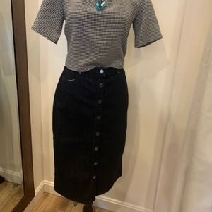 Banana Republic Button Front Denim Pencil Skirt